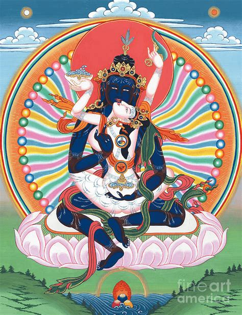 Buddhist Home Decor pema heruka guhya jnana dakini painting by sergey noskov