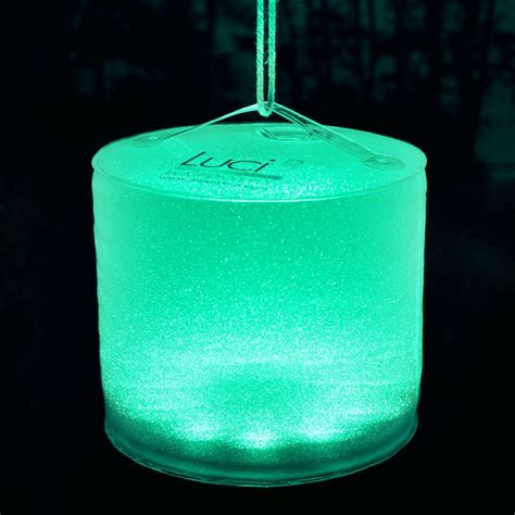 luci aura inflatable color changing solar lantern mood