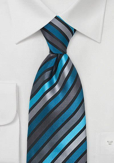 Mens Tie in Teal and Black   Bows N Ties.com