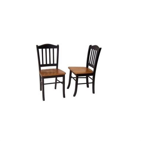 Oak And Black Dining Chairs Dining Chair In Black And Oak Set Of Two 30536