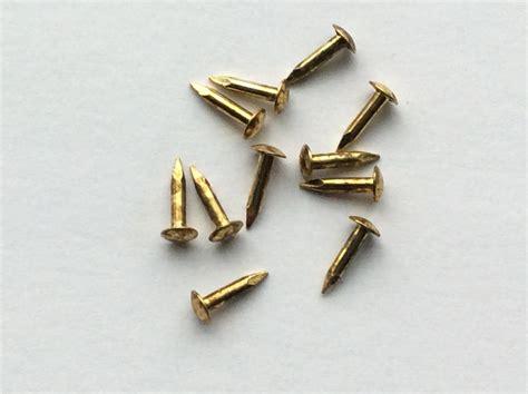 Small Pins escutcheon brassed pins tacks nails brads 6mm crafts
