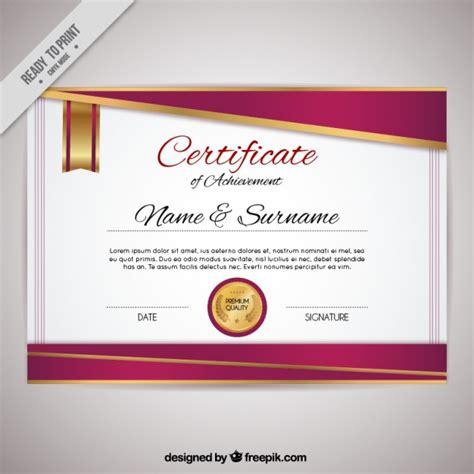 www freepik es plantillas de graduacion certificado elegante de reconocimiento descargar