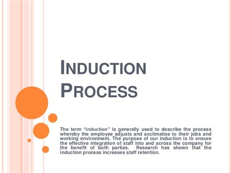 induction procedure template induction process