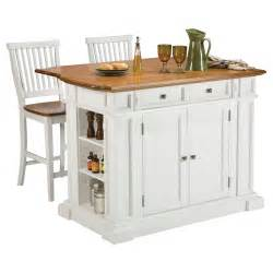 Kitchen Island by Home Styles White And Oak Finish Large Kitchen Island