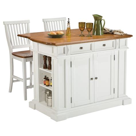 small kitchen islands with breakfast bar home styles white and oak finish large kitchen island