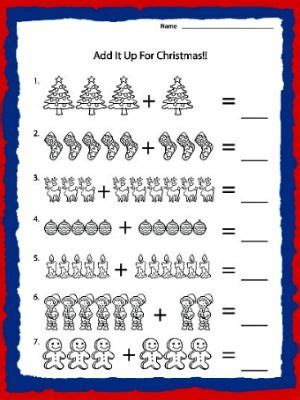 christmas activity forwork printable worksheets for kindergarten holidays wizard