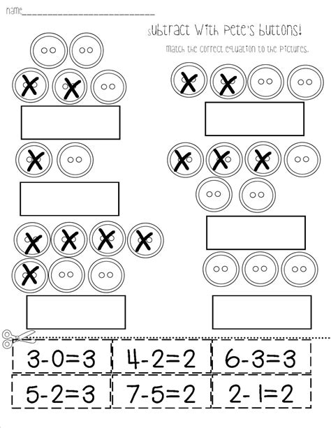 Pete The Cat Worksheets by Mrs Bohaty S Kindergarten Kingdom Subtract With Pete