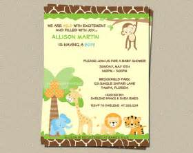 safari theme baby shower invitations template best template collection