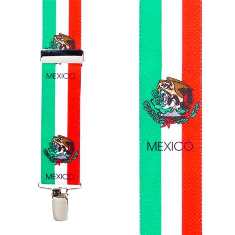 mexico flag colors mexican flag suspenders suspenderstore
