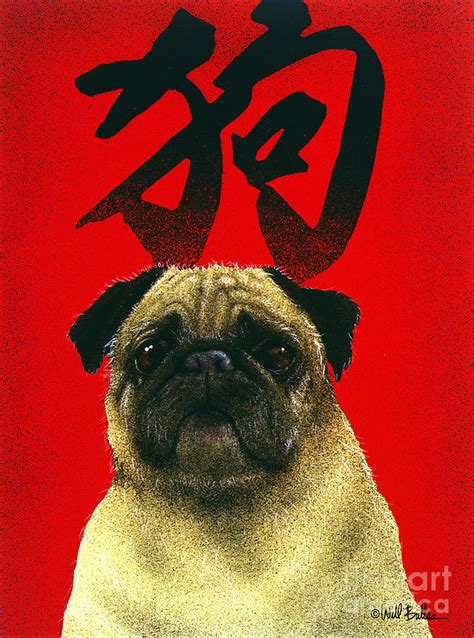 year of the pug the year of the the pug painting by will bullas
