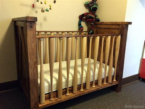 Baseball Crib by Diy Baby Crib With A Baseball Twist Reality Daydream