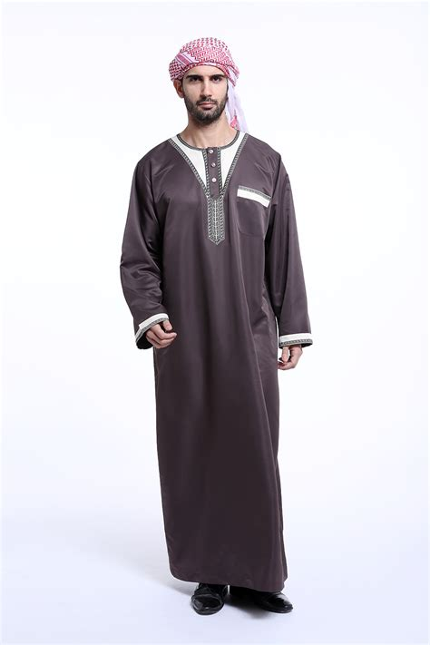 Sale Dress Muslim Satu Set mens thobe thoub abaya robe dress dishdasha islamic arab kaftan clothing ebay