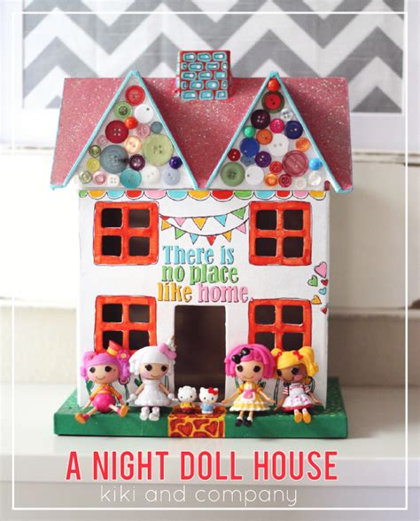 little doll house folk art stenciled night doll house kiki company