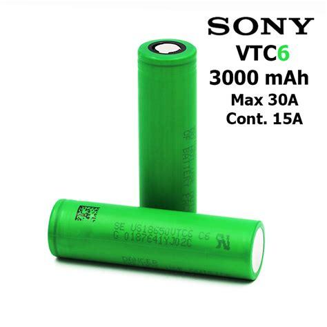 Battery Sony Vtc6 18650 30a 3000mah 100 Authentic ถ านชาร จ แบตเตอร battery sony vtc6 us18650vtc6 rechargeable เบอร 18650 3 7v 3000 mah high