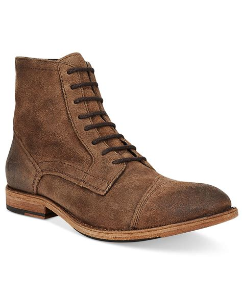 frye mens boot frye s everett lace up boots in brown for lyst