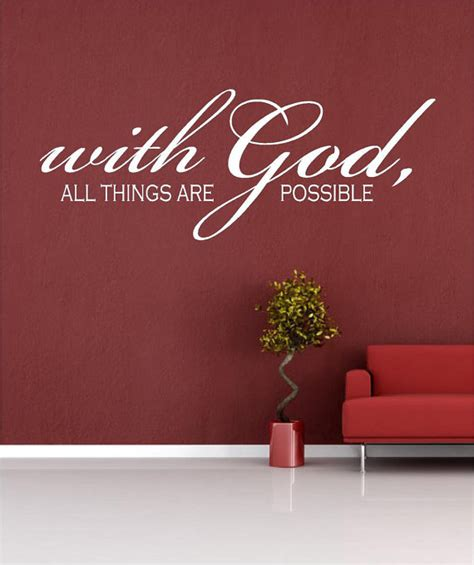 scripture wall stickers items similar to scripture wall decal with god all things are possible sizes