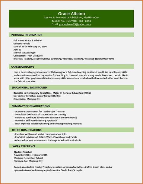 cv format nigeria cv sles for fresh graduates in nigeria resume