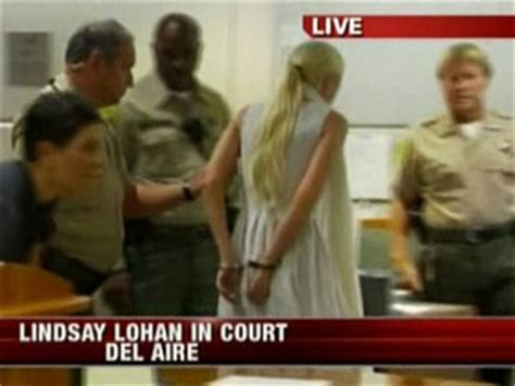 Lindsays Ex Suing Unknown Myspace by Lindsay Lohan Led Away From Court In Handcuffs And In
