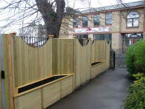 planters as fence post search swimming pool
