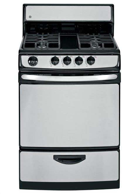 ge 24 in 3 0 cu ft gas range in stainless steel