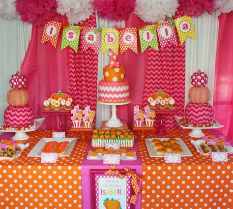 party themes in october and everything sweet pink pumpkin party