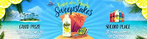 Home Sweeper Sweepstakes - taste of the islands sweepstakes calypso
