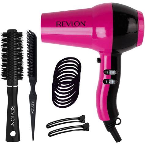 Pink Hair Dryer Clip revlon ceramic ionic dryer blowout kit pink 15 pc