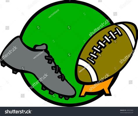 football kicking shoe sport shoe kicking football stock illustration 34507693