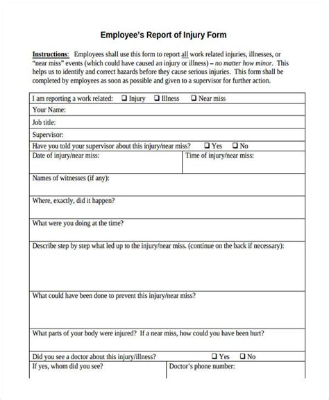 near miss report form template form near miss reporting
