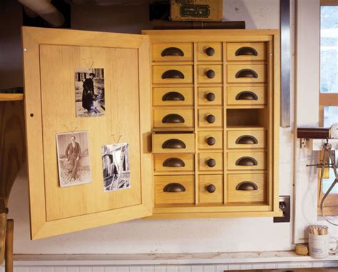 Nail Cabinet by Roy Underhill S Nail Cabinet Popular Woodworking Magazine