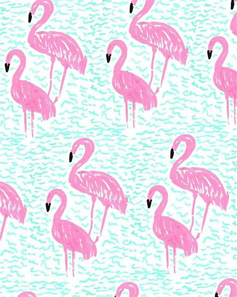 flamingo wallpaper pattern flamingo background chicfetti via tumblr image