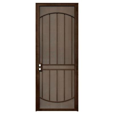 Security Patio Doors Home Depot by Unique Home Designs Arcada 36 In X 96 In Steel Copper