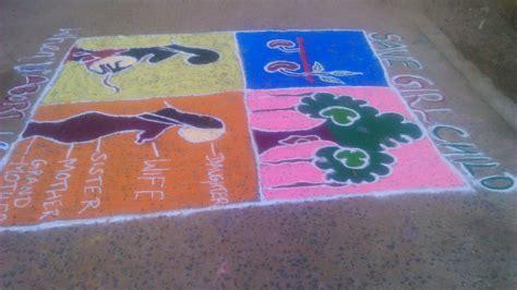 rangoli theme unity rangoli save girl child theme