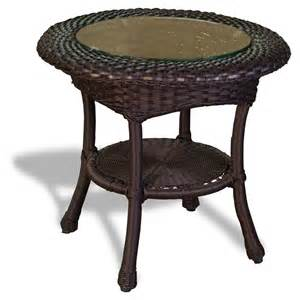 Rattan Side Table Tortuga Outdoor Wicker Side Table Wickercentral