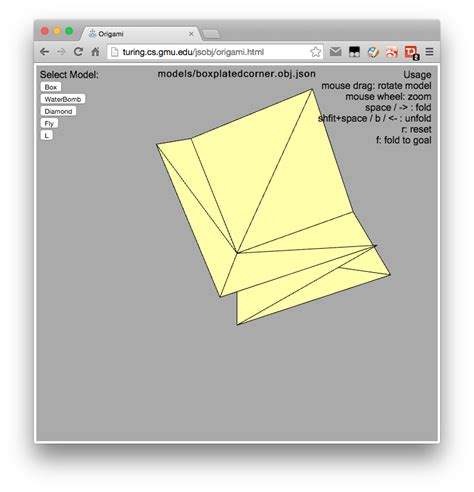 Origami Simulation - origami software developed by masc