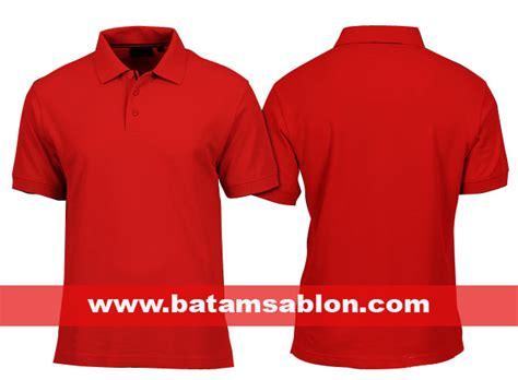 Kaos Polos Combed 20s Merah Tanpa Merek pusat grosir kaos polos batam kualitas distro harga murah