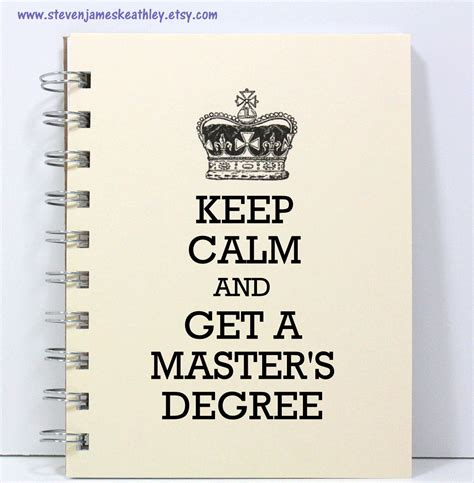 Degree Above Mba by Master S Degree Journal Notebook Diary By Stevenjameskeathley