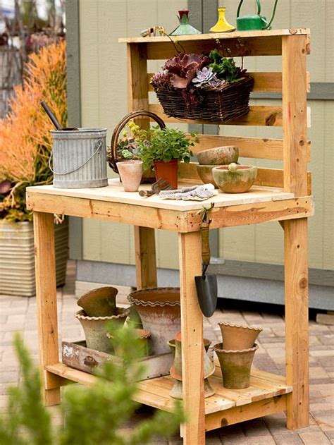 build your own potting bench 25 garden pallet projects