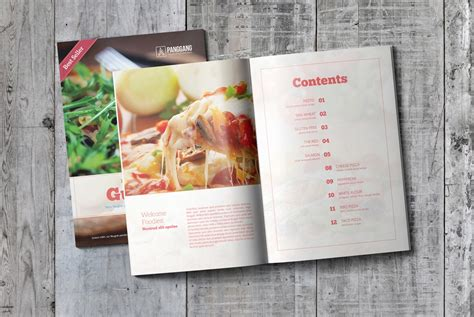 cookbook template free psd psd