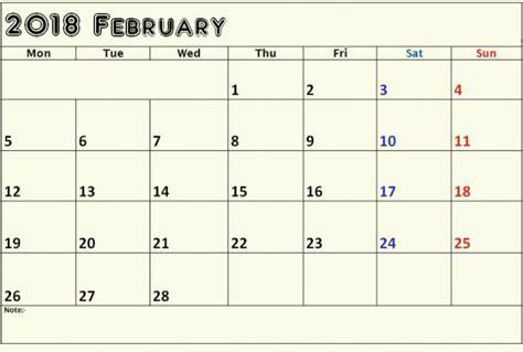printable calendar 2018 editable february 2018 calendar editable printable template