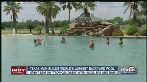Largest Backyard Pool Puts 3 Million Into World S Backyard Swimming Pool Theindychannel