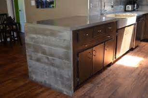 mode concrete modern contemporary concrete kitchen with waterfall countertop made in kelowna