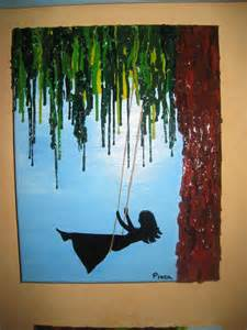Cool Painting Ideas On Canvas by Handmade Swinging Melted Crayon On Acrylic