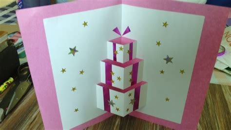 Handmade In - how to make handmade pop up birthday cards step by step