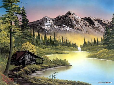 bob ross paintings landscapes
