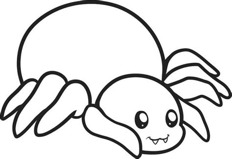 spider outline coloring page spider with bold outline coloring page animal cute