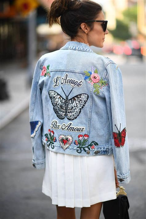 Flower Embroidered Denim Jacket 7 pieces that look adorable with flower embroidery