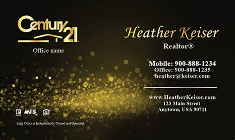 diy century 21 business cards template century 21 business card gold glamorous glitter design