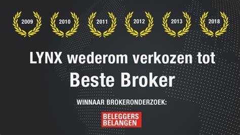 beste broker lynx verkozen tot beste broker 2018 lynx voor de 14e