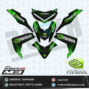jual decal motor yamaha mio m3 nvidia green black di